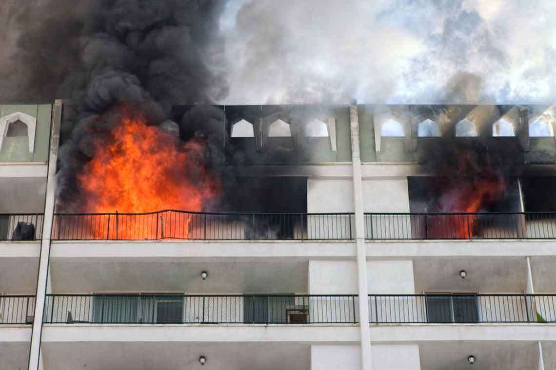 Apartment Block Near San Diego Goes Up in Flames Hero Image
