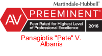 Martindale-Hubbell Peer Rated for Highest Level of Professional Excellence 2016 Badge